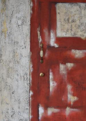 Rote Tür Postkarten A6