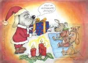 Weihnachten Alu Dibond