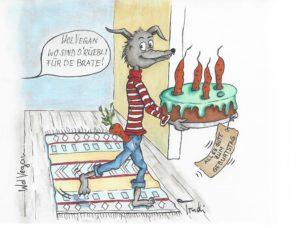 Geburtstagskuchen Alu Dibond