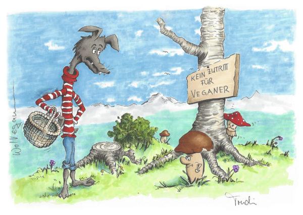Wolvegan-Pilze sammeln